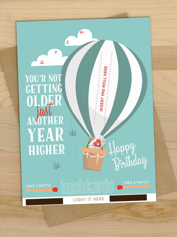 Higher Birthday Greeting Card