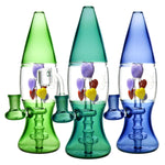 Hearts Lava Lamp Glass Water Pipe