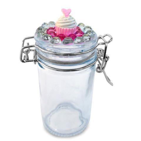 Cupcake Jeweled Glass Jar