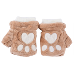 Teddy Bear Fingerless Gloves