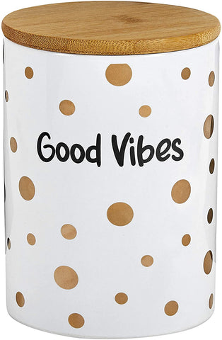 Good Vibes Ceramic Jar