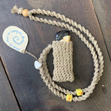 Handmade Lighter Case Necklace - Yellow
