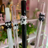 Skully Glass Drink Straw