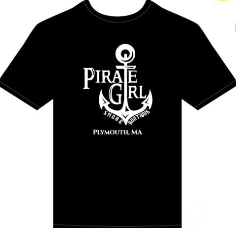 Pirate Girl Anchor Logo Tshirt