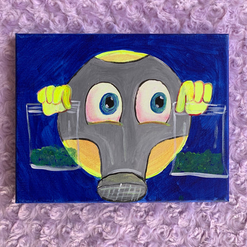 Gas Mask Emoji Painting