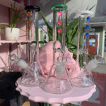 Clear Glass Jeweled Water Pipe
