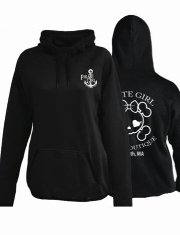 Pirate Girl Hoodie - Black
