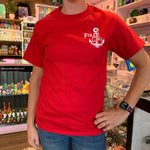 Red and White Pirate Girl Logo Tshirt
