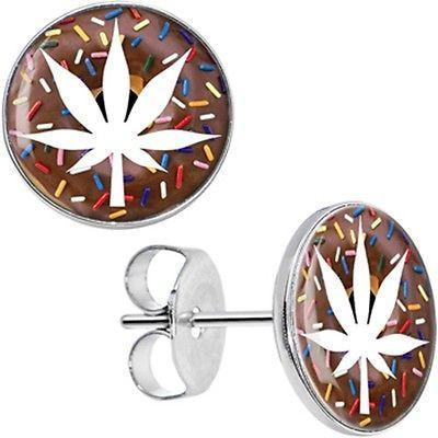 Donut Leaf Stud Earrings