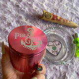 Pirate Girl Grinder and Ashtray Bundle