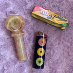 Sherbet Fumed Glass Pipe