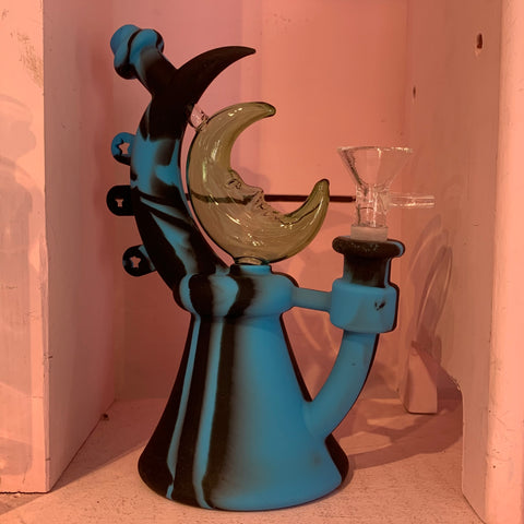 Crescent Moon Silicone Water Pipe