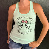 Pirate Girl Mint Tank