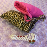 Animal Print Glass Pipe Pouch