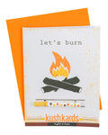 Let's Burn Greeting Card and One Hitter