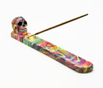 Rainbow Skull Incense Burner