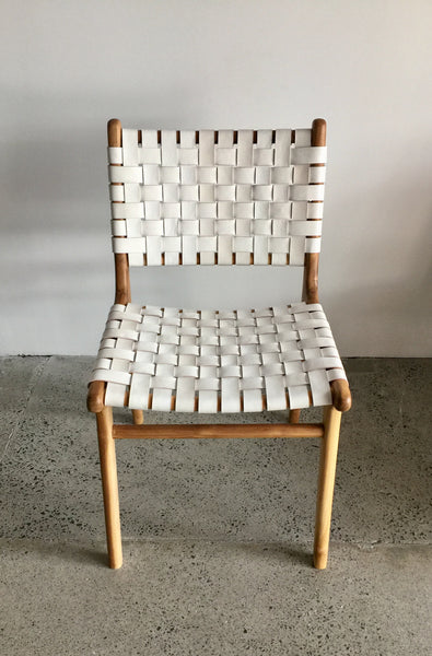 Leather Amp Wood Dining Chair White Style X Lab