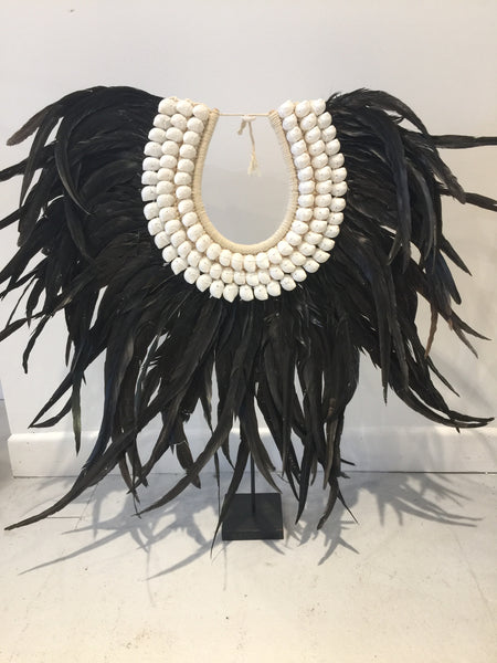 Black Feather Tribal Necklace