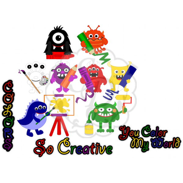 Coloring Monsters