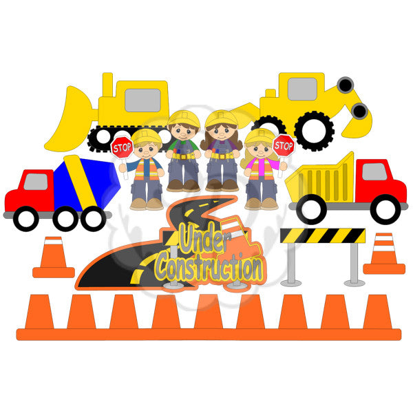 Construction Vehicles and Cones