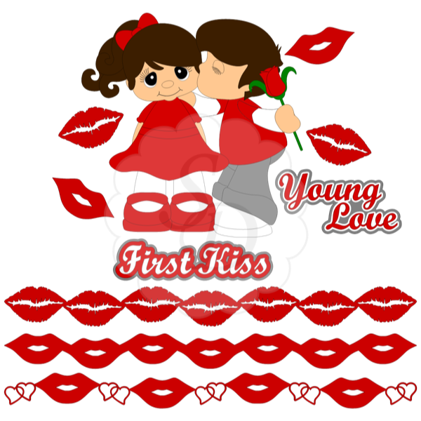 Young Love First Kiss