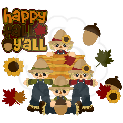 Happy Fall Y'all | Scarecrows