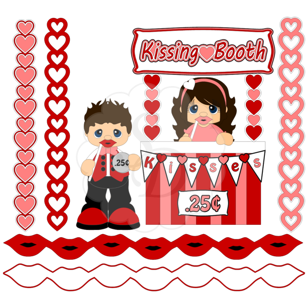 Kissing Booth, Valentines, Photo Prop