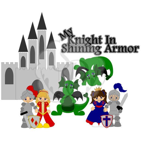 Knights in Shining Armor, Princess, Castle, Dragon