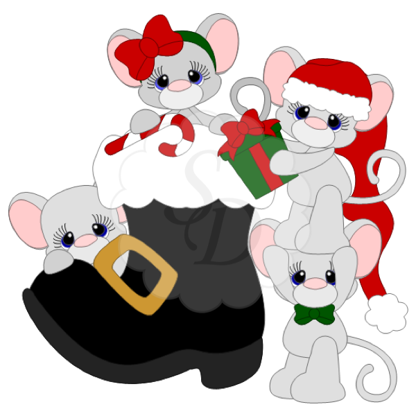 Mice in a Christmas Boot