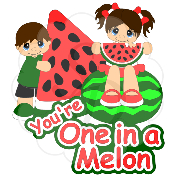 Boy and Girl Eating Watermelon
