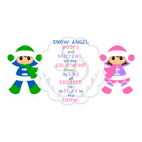 Snow Angel Boy and Girl