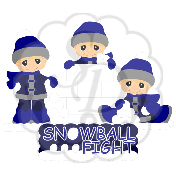 Snowball Fight Boy
