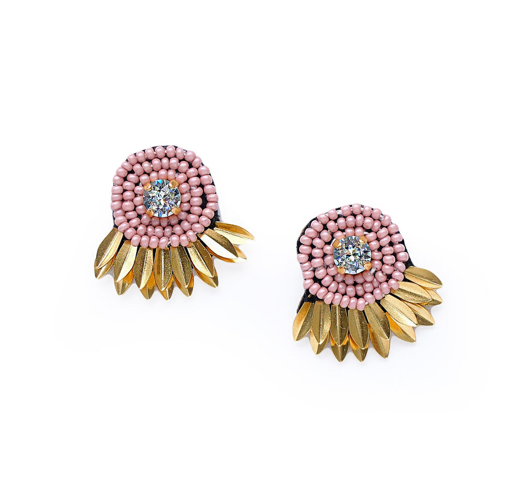 Athena Stud Earrings - Pink