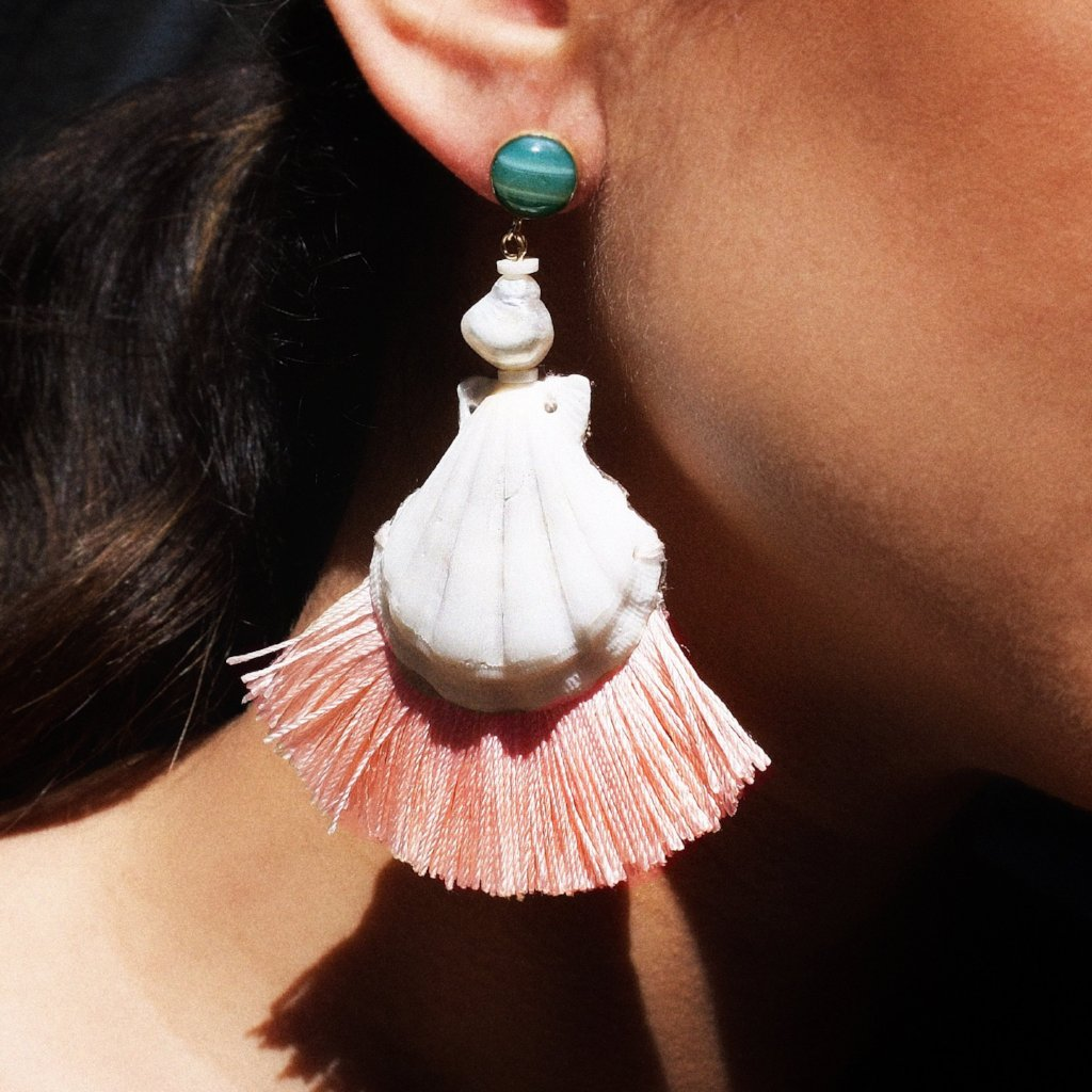 Shell Tassel Earrings