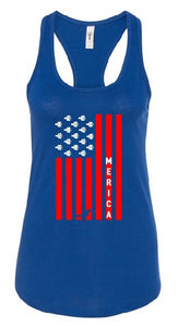 MERICA Flag Women's Tank Top