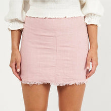 Load image into Gallery viewer, LEEVI LINEN SKIRT/ Pink