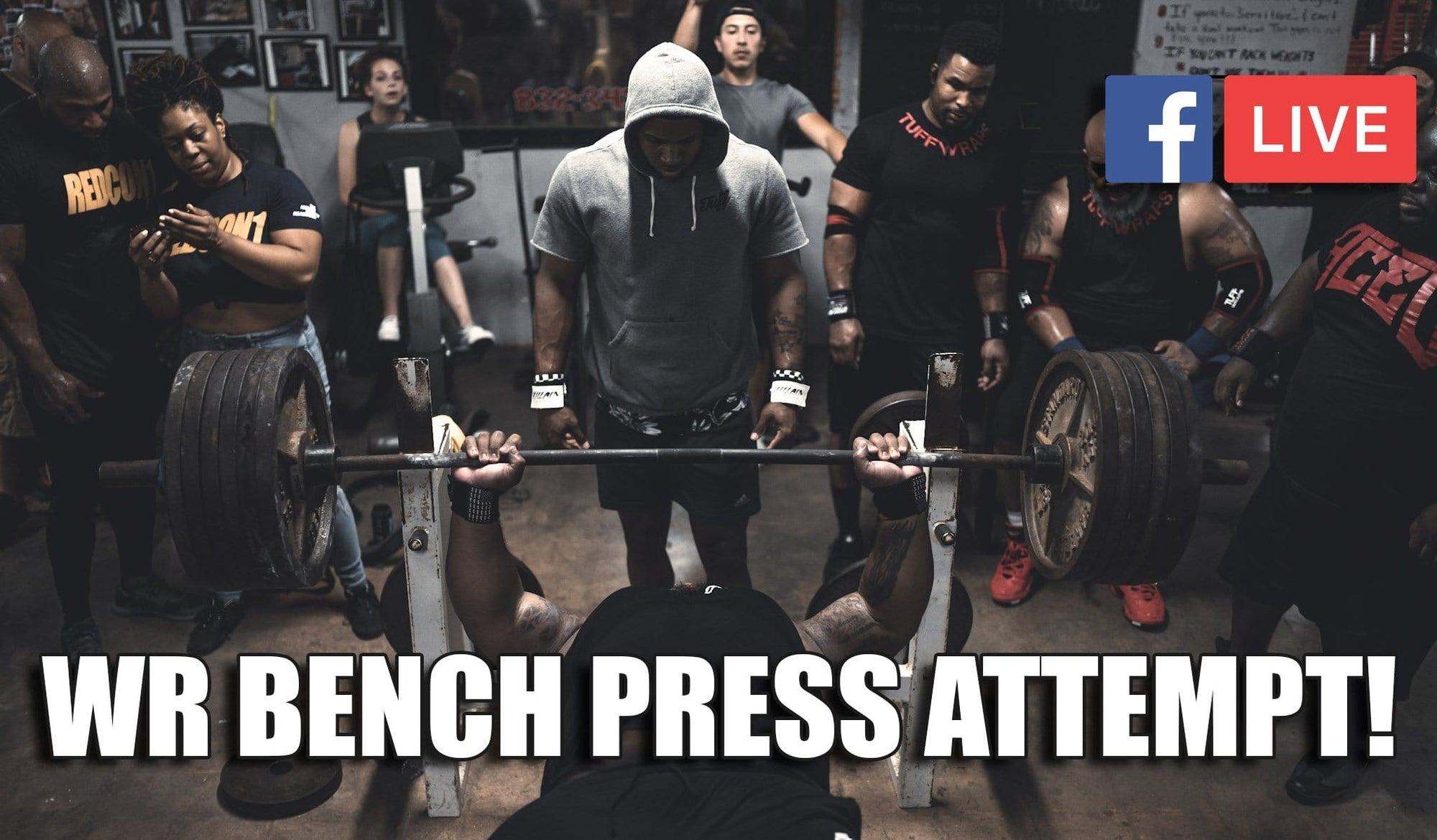 Julius Maddox World Record Bench PRess Attempt 2019