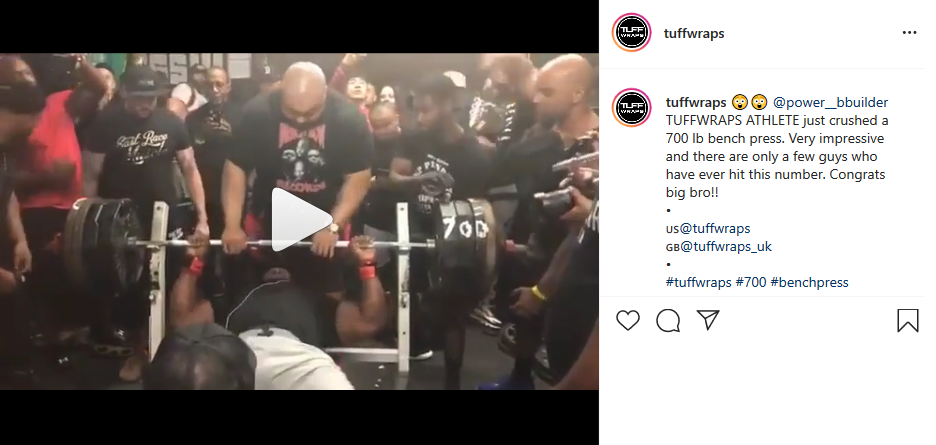 Johnny Harris is the 1st person under 300 lbs to bench press 700lbs