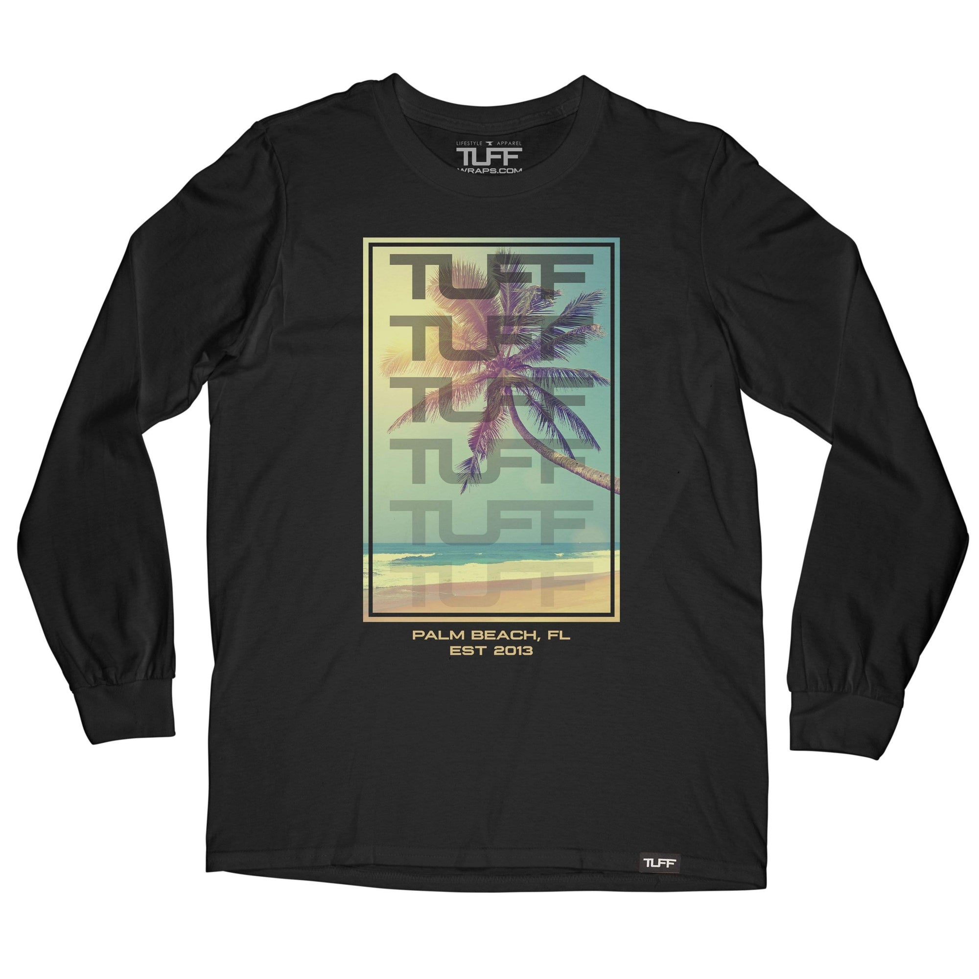 Beach Life Long Sleeve Tee S / Black TuffWraps.com