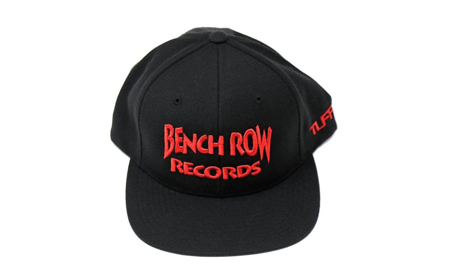 Bench Row Black/Red Snapback Hat TuffWraps.com