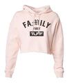 Family First Hooded Cropped Fleece S / Peach TuffWraps.com