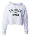Family First Hooded Cropped Fleece S / White TuffWraps.com