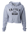 Family First Hooded Cropped Fleece XS / Heather Gray TuffWraps.com