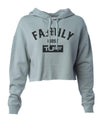Family First Hooded Cropped Fleece XS / Sage Green TuffWraps.com