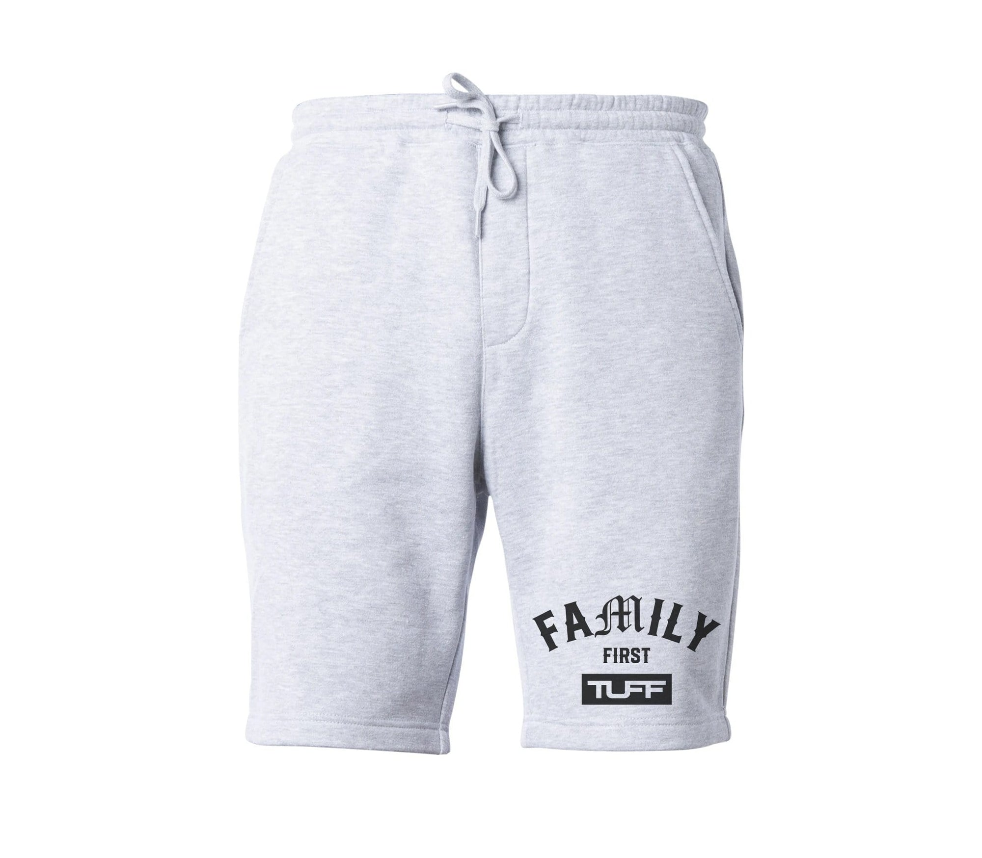 Family First TUFF Tapered Fleece Shorts XS / Gray TuffWraps.com