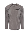 TUFF ACTV Hooded Raglan Tee XS / Heather Gray TUFF