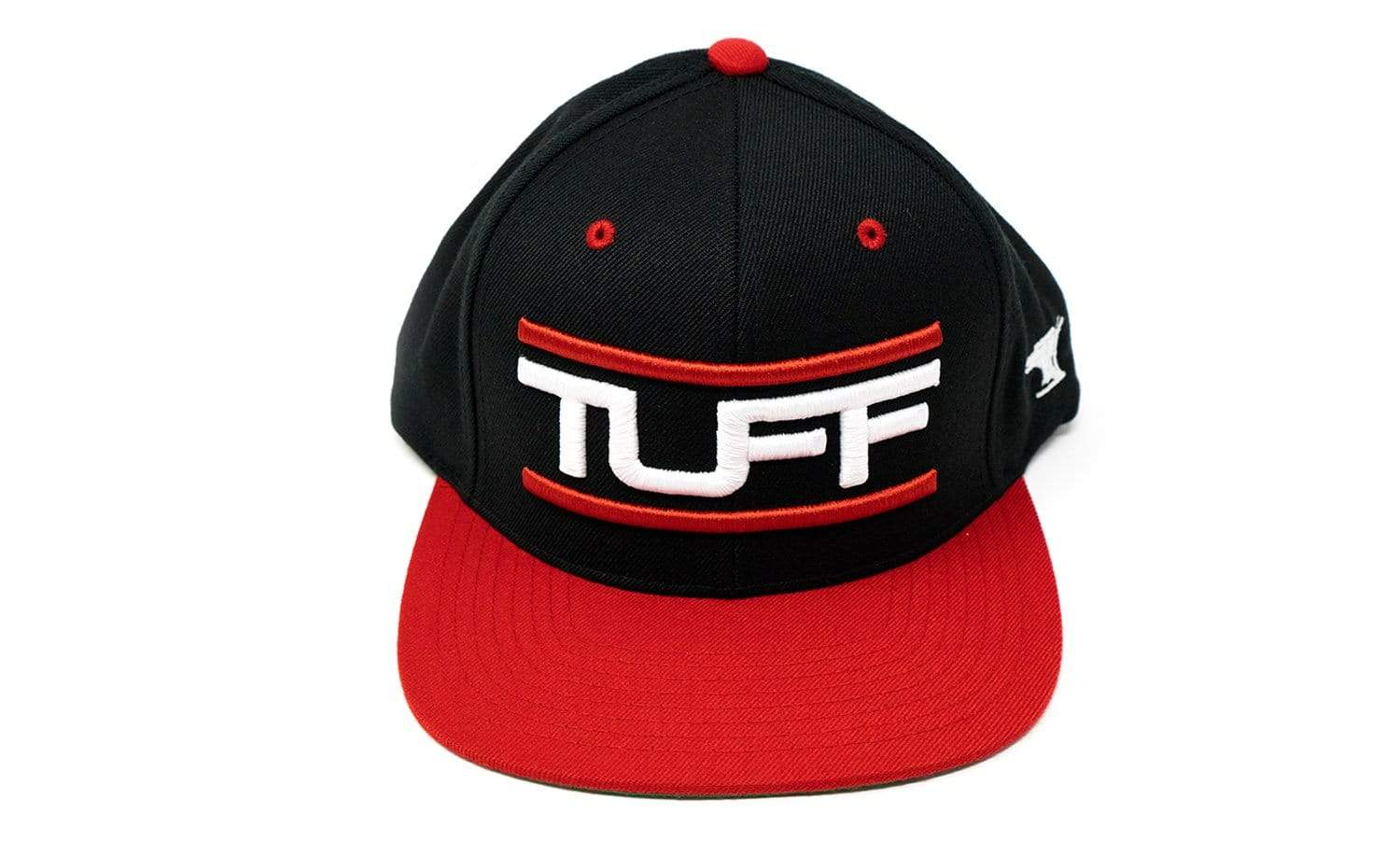 TUFF Bar'd Black/Red Snapback Hat TuffWraps.com