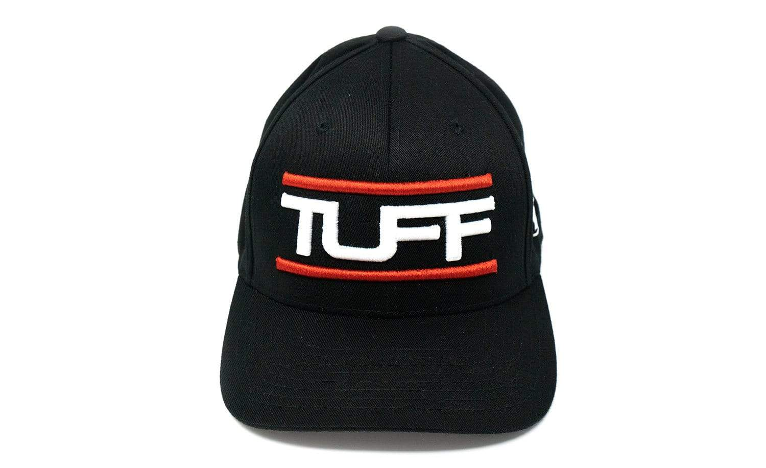 TUFF Bar'd Black/White Flexfit Hat TuffWraps.com
