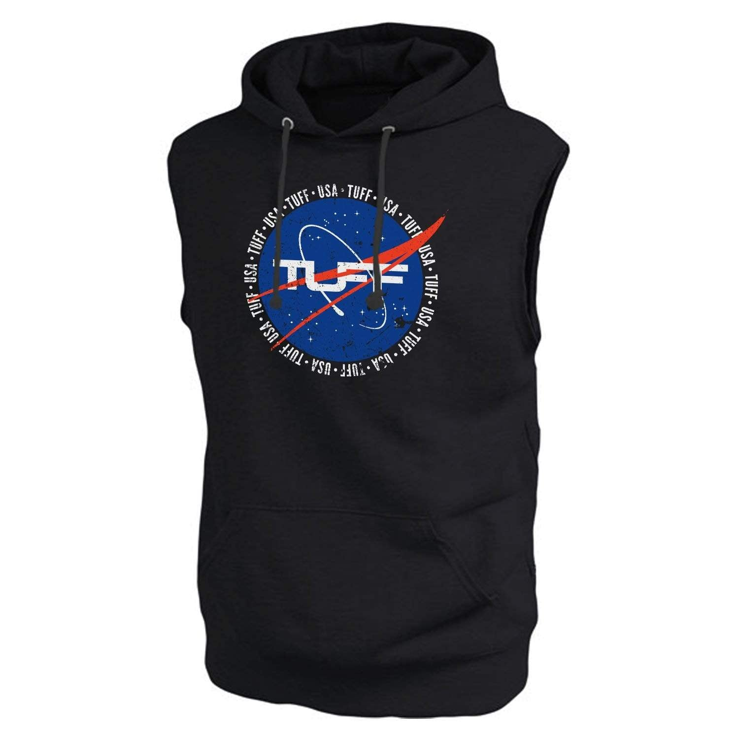 TUFF Deep Space Muscle Hooded Fleece S / Black TuffWraps.com