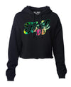 TUFF Palm Script Hooded Cropped Fleece XS / Black TuffWraps.com